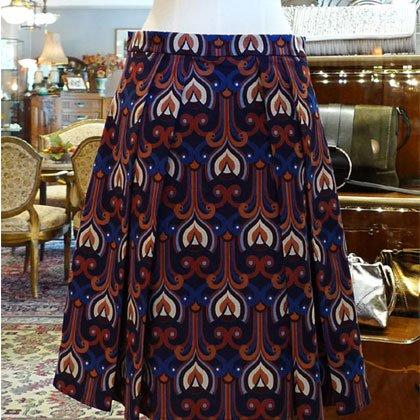 スカート プリント柄 厚地 秋冬パリレディースファッション フランス製 フレンチデザイナー