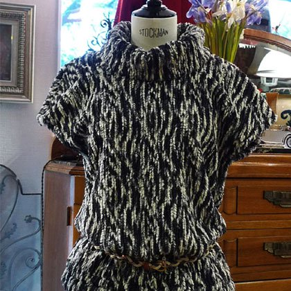 トップス 半袖 ゼブラ柄 秋冬パリレディースファッション フランス製 フレンチデザイナー