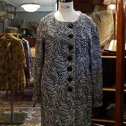ウールコート ゼブラ柄 秋冬パリレディースファッション フランス製 フレンチデザイナー