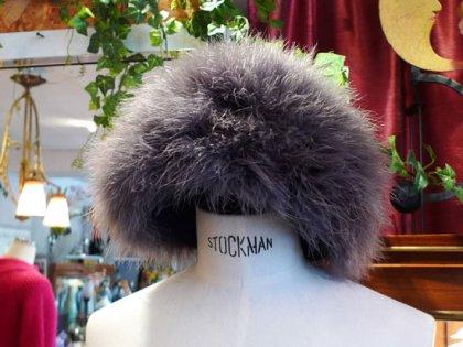 帽子 ベレー帽 リアルファー ダチョウ パリレディースファッション フランス製 フレンチデザイナー