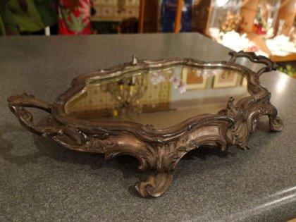 ジャルディニエ 鏡 ミラー 鋳物 19世紀 フランス アンティーク インテリア