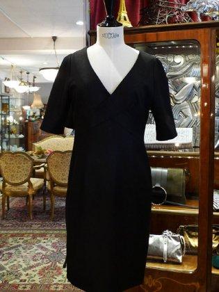 ワンピース 五部袖 黒メタリック 春夏秋パリレディースファッション フランス製 フレンチデザイナー