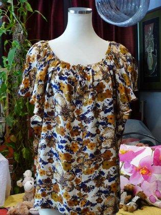 トップス 花柄 シルク 秋冬パリレディースファッション フランス製 フレンチデザイナー