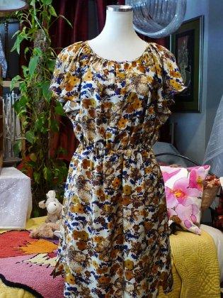 ワンピース 花柄 シルク 秋冬パリレディースファッション フランス製 フレンチデザイナー