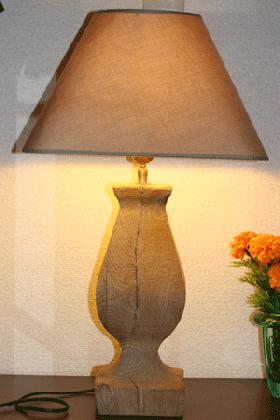 ランプ 木製