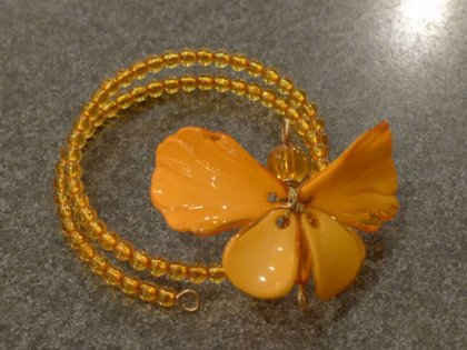 ナプキンリング 蝶 オレンジ