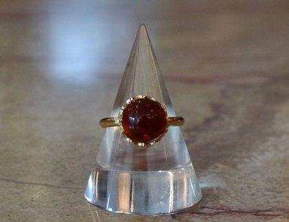 【フランスアクセサリー】新品指輪ベネティアン橙