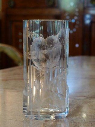 【フランスアールヌーボー置物】花瓶�モーゼル19世紀