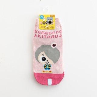 鬼太郎靴下(18〜21cm) ピンク