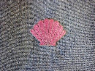 アイロンワッペン 貝殻 C