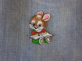 アイロンワッペン ウサギ D