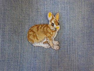 アイロンワッペン ウサギ E