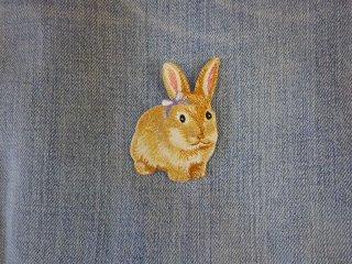 アイロンワッペン ウサギ F
