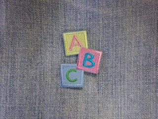 アイロンワッペン ABC