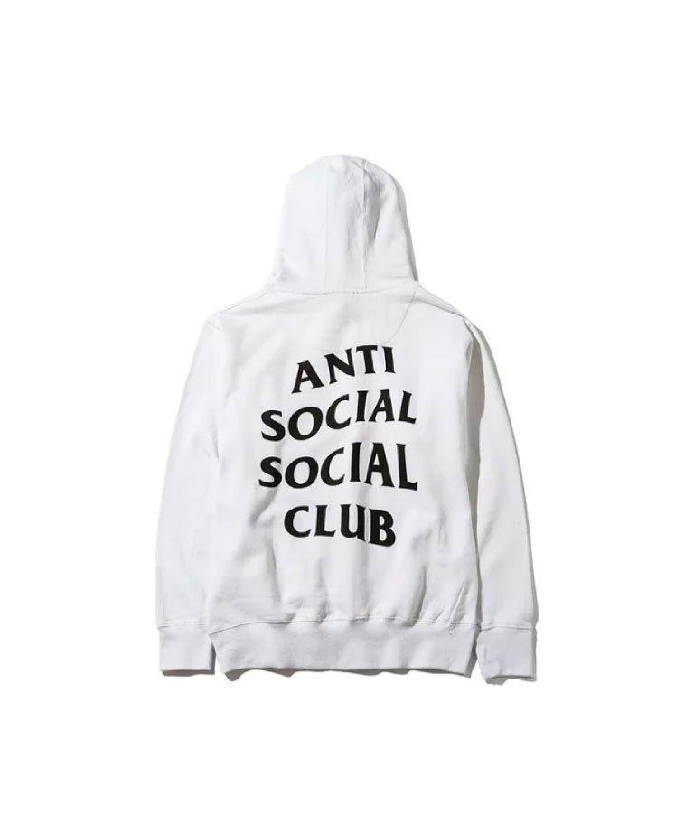 Anti Social Social Club  ORIGINAL LOGO HOODIE / WHT