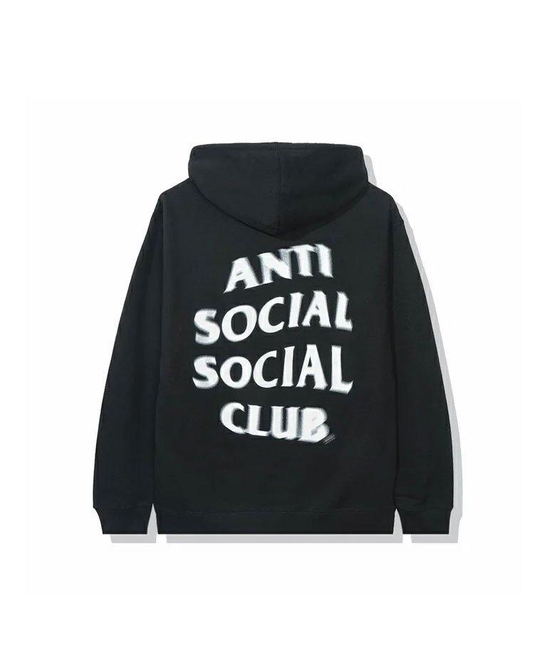 Anti Social Social Club  Spiral White Hoodie  / BLK