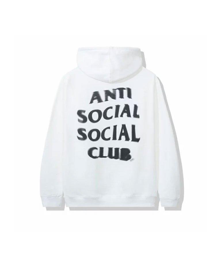 Anti Social Social Club  Spiral White Hoodie  / WHT
