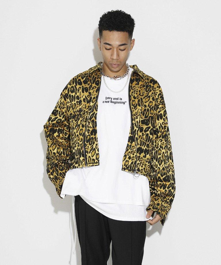 【決算セール!!30%OFF】LEGENDA Jacquard Leopard Short shirts
