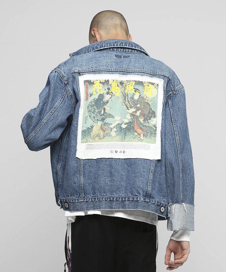 VANQUISH 花鳥風月ロールアップデニムジャケット