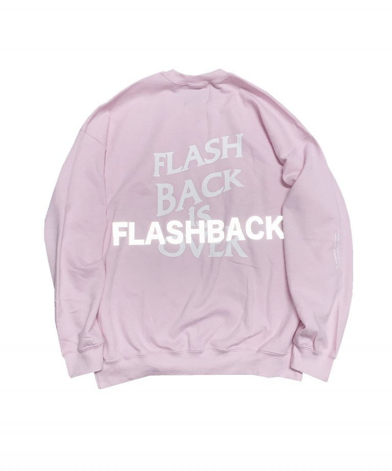 OVERSIZE FLASHBACK is OVER Reflector Sweat PINK