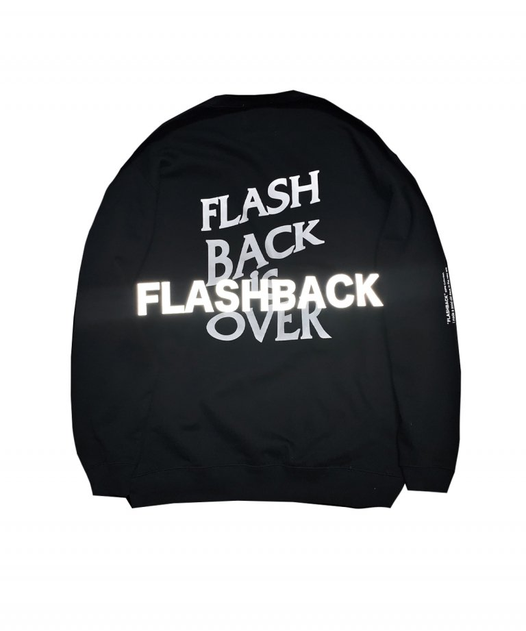 OVERSIZE FLASHBACK is OVER Reflector Sweat BLK