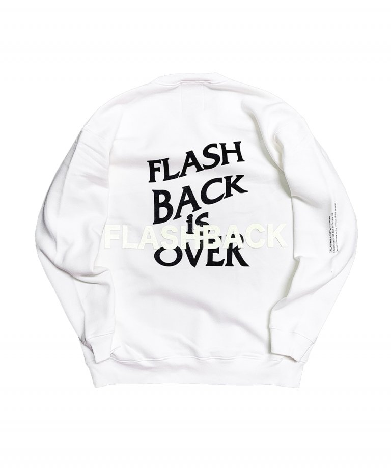 OVERSIZE FLASHBACK is OVER Reflector Sweat WHT×BLK