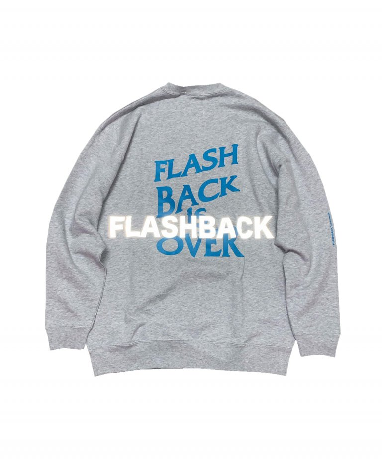 OVERSIZE FLASHBACK is OVER Reflector Sweat GRY×TAQ