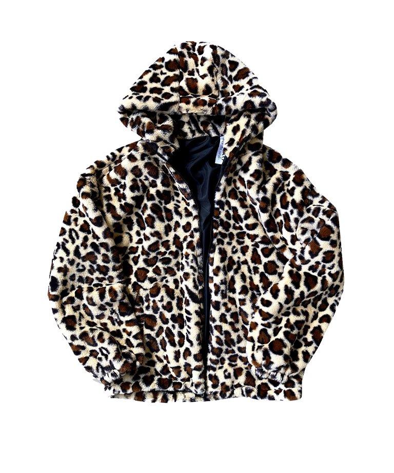 【決算セール!!50%OFF】OUTRO-feer de seal- Leopard Far Hoodie JKT WHT