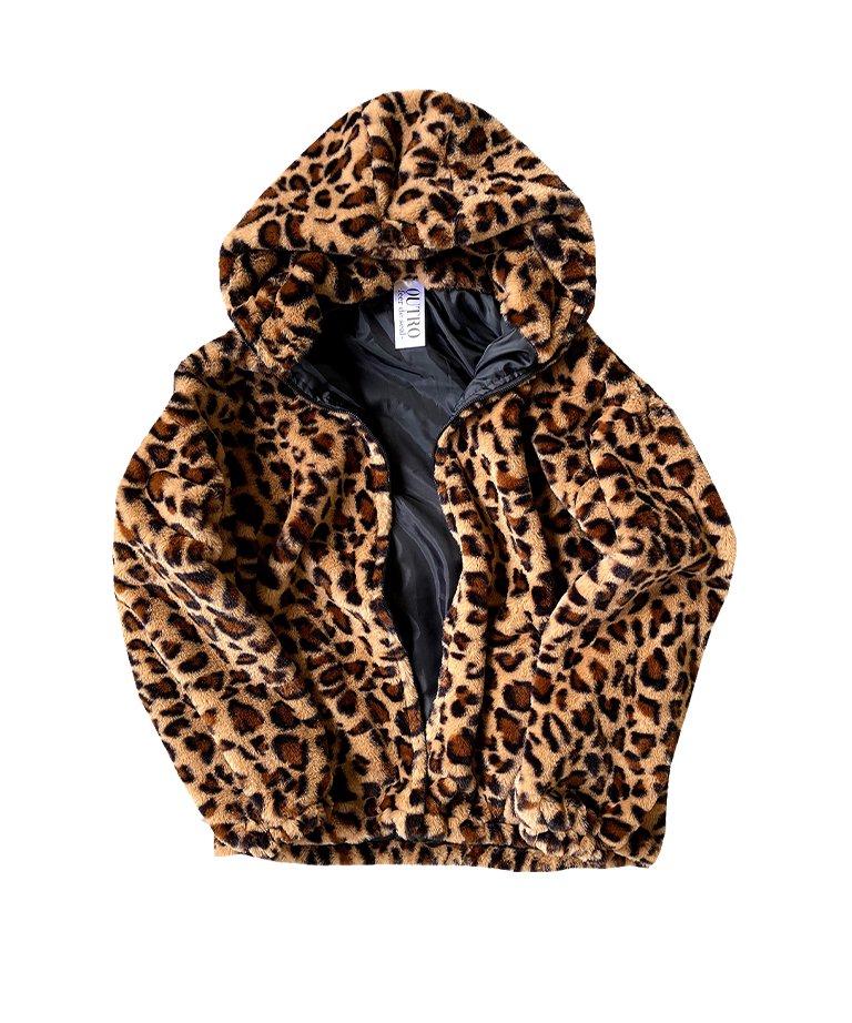 【決算セール!!50%OFF】OUTRO-feer de seal- Leopard Far Hoodie BRW