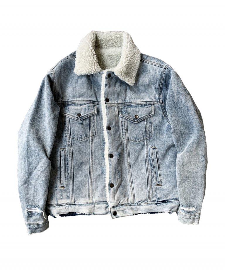 【GW限定30%OFF】Vintage Denim Boa JKT
