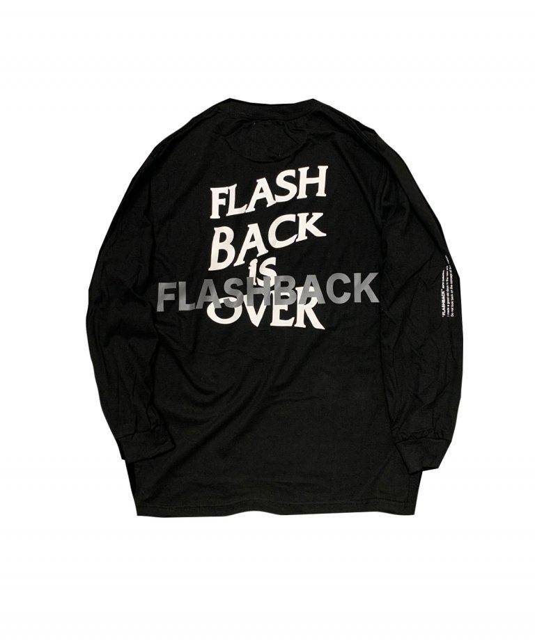 【FLASHBACK最新作】Reflector ''BACK'' OVERSIZE LONG T-Shirts BLK