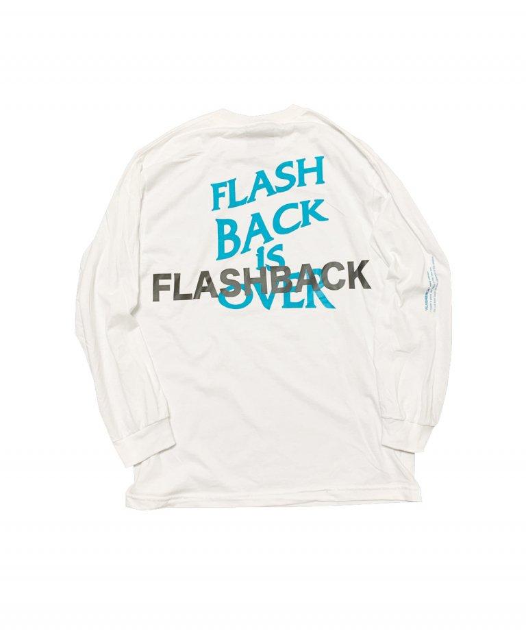 【FLASHBACK最新作】Reflector ''BACK'' OVERSIZE LONG T-Shirts WHT×MINT