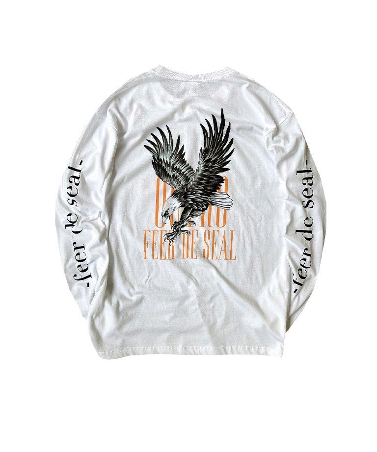 OUTRO-feer de seal-  Gothic Logo Eagle LS Tee WHT