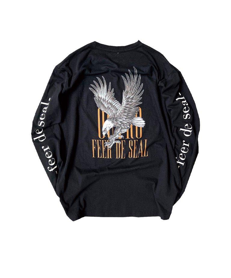 OUTRO-feer de seal-  Gothic Logo Eagle LS Tee BLK