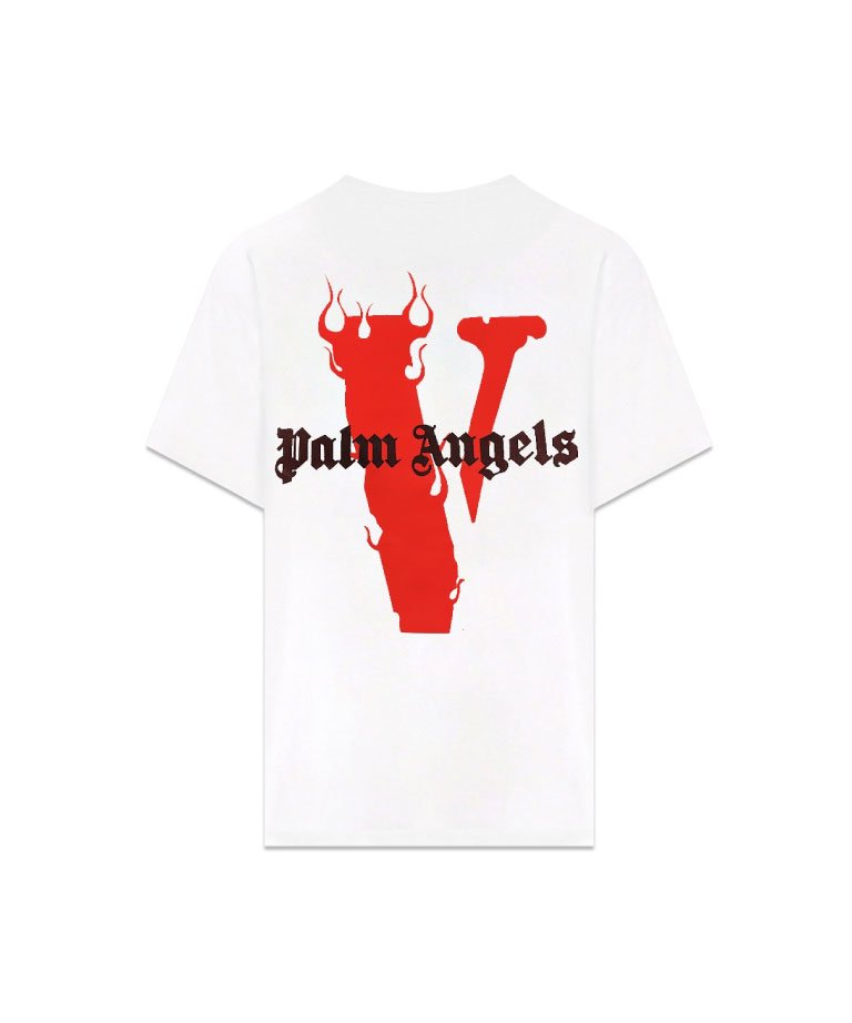 VLONE Palm Angels Short Sleeve Tee WHTRED