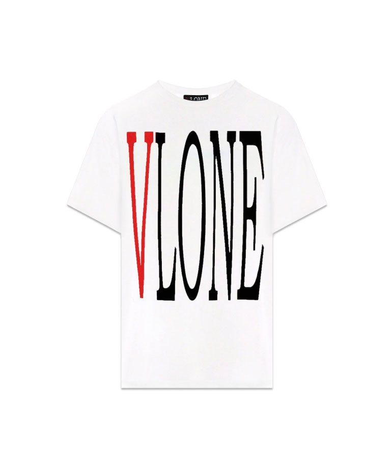 VLONE Logo Short Sleeve Tee WHTRED