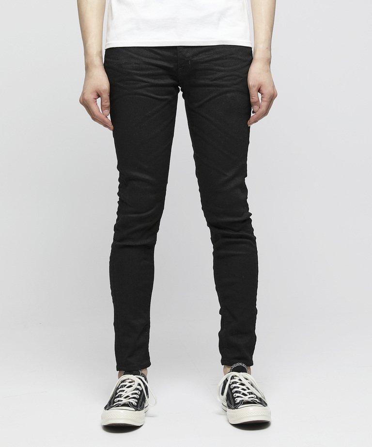 VANQUISH Solid cropped stretch Skinny Denim pants[VJP2253]