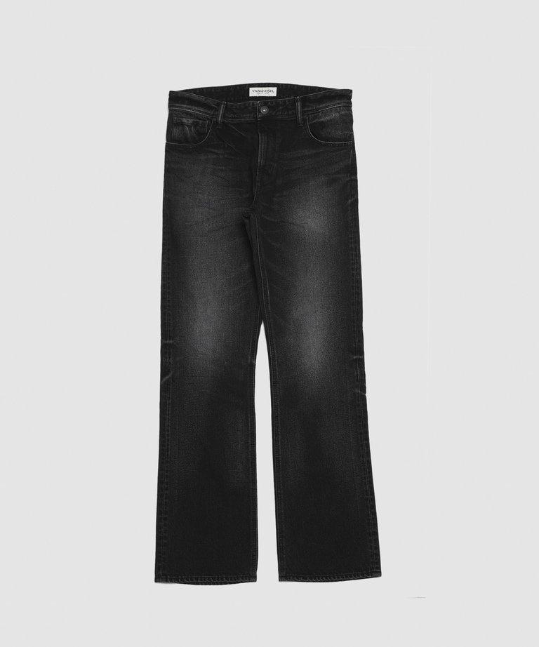 VANQUISH SOLID WASH FRARED DENIM PANTS(JAPAN product)[VJP3130]