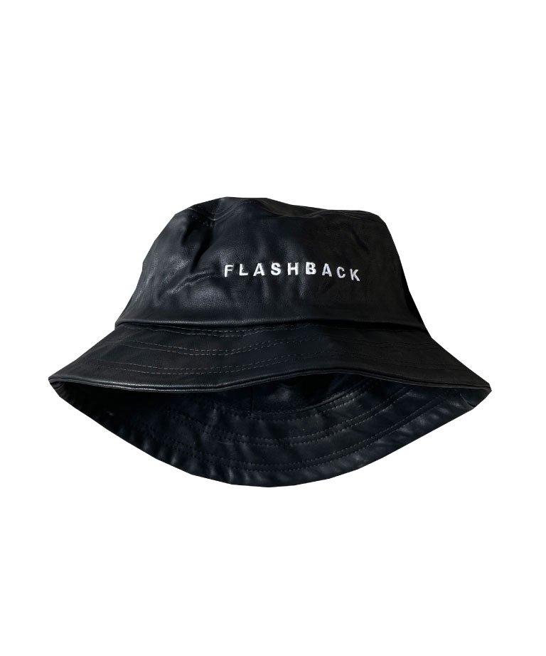 FLASHBACK Logo Fake Leather Bucket Hat