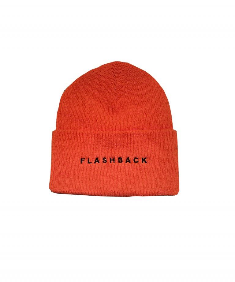 FLASHBACK Logo Knit Cap ORANGE
