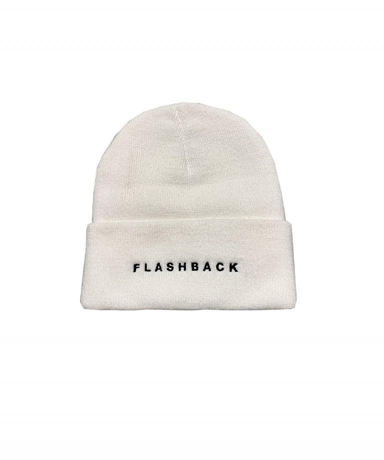 FLASHBACK Logo Knit Cap WHT