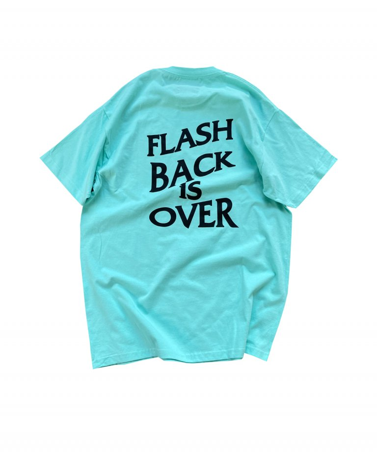 【FLASHBACK最新作】''FLASHBACK is OVER'' OVERSIZE  T-Shirts MINT