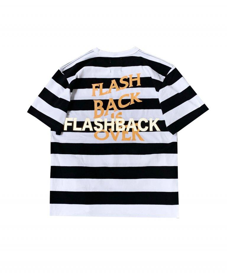 【FLASHBACK最新作】''FLASHBACK is OVER'' Reflectior OVERSIZE  T-Shirts WHT×BLK