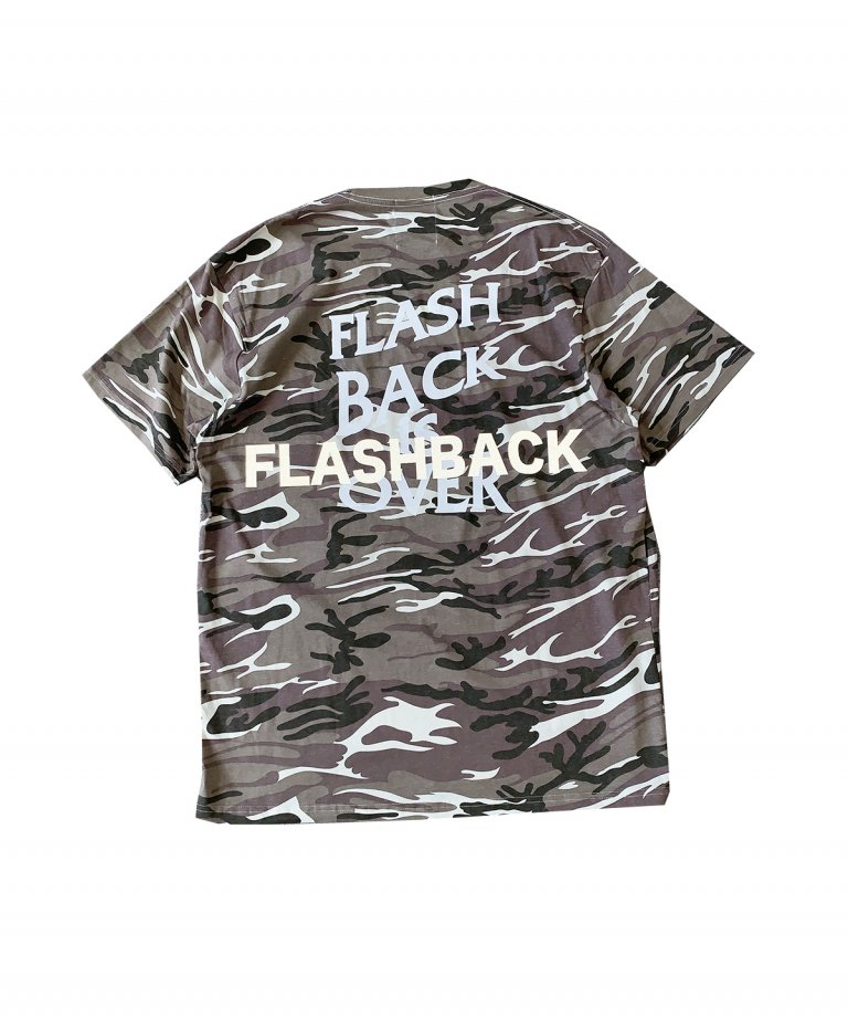 【FLASHBACK最新作】''FLASHBACK is OVER'' Reflectior OVERSIZE  T-Shirts CAMOBEG