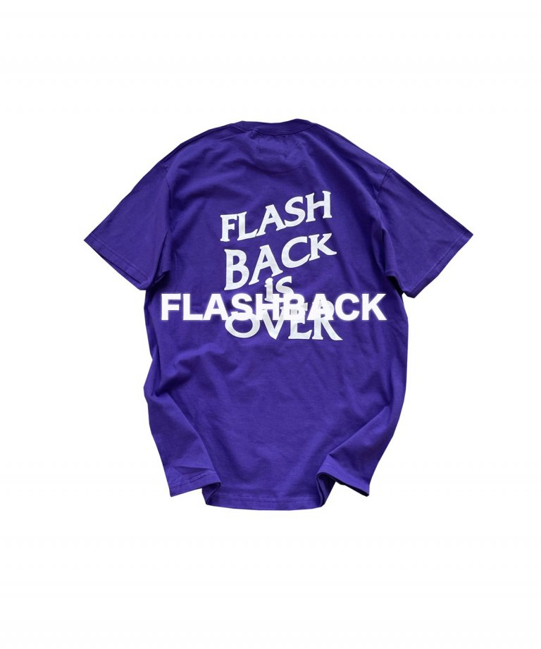 【FLASHBACK最新作】''FLASHBACK is OVER'' Reflectior OVERSIZE  T-Shirts PUP