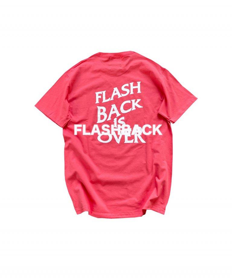 【FLASHBACK最新作】''FLASHBACK is OVER'' Reflectior OVERSIZE  T-Shirts PINK
