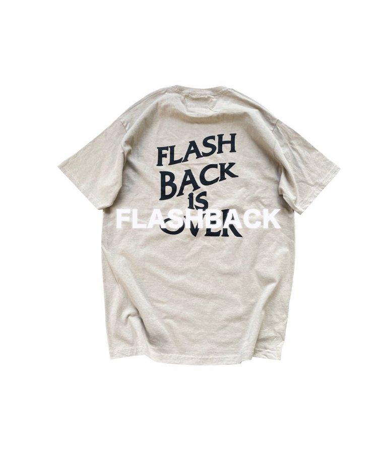 【FLASHBACK最新作】''FLASHBACK is OVER'' Reflectior OVERSIZE  T-Shirts BEG