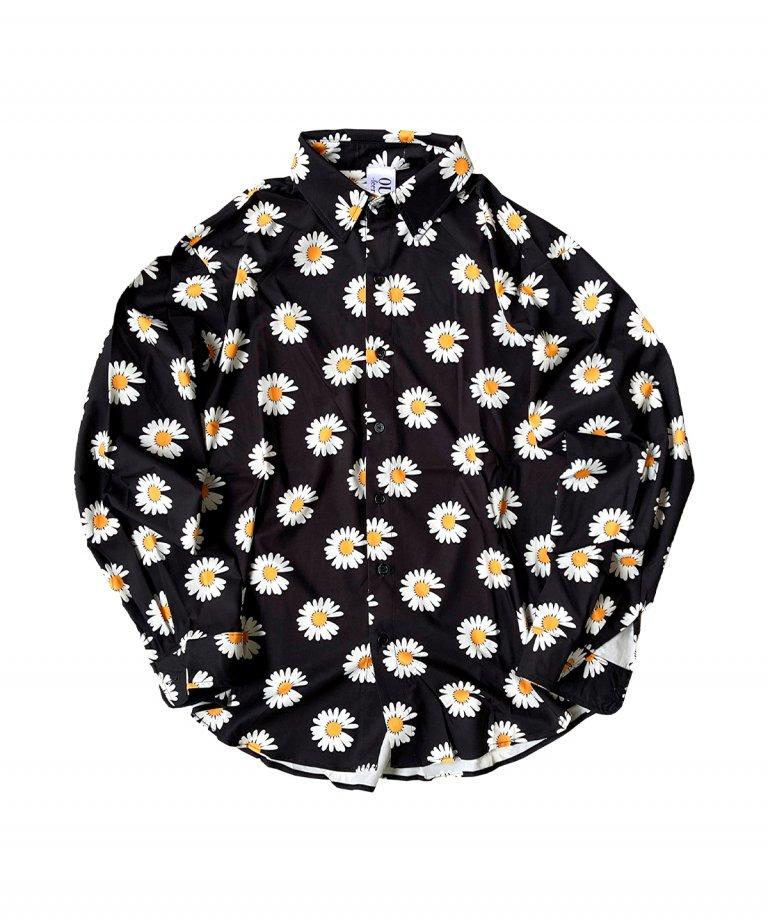 OUTRO-feer de seal- Gerbera Oversize Shirt BLK