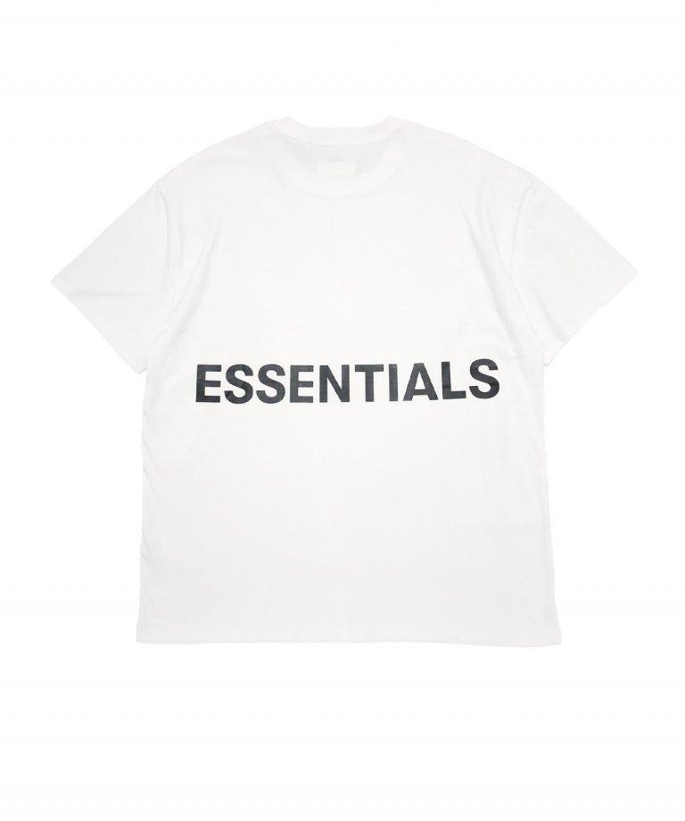 FOG ESSENTIALS BOXY LOGO  SS TEE ボクシーロゴTシャツWHT