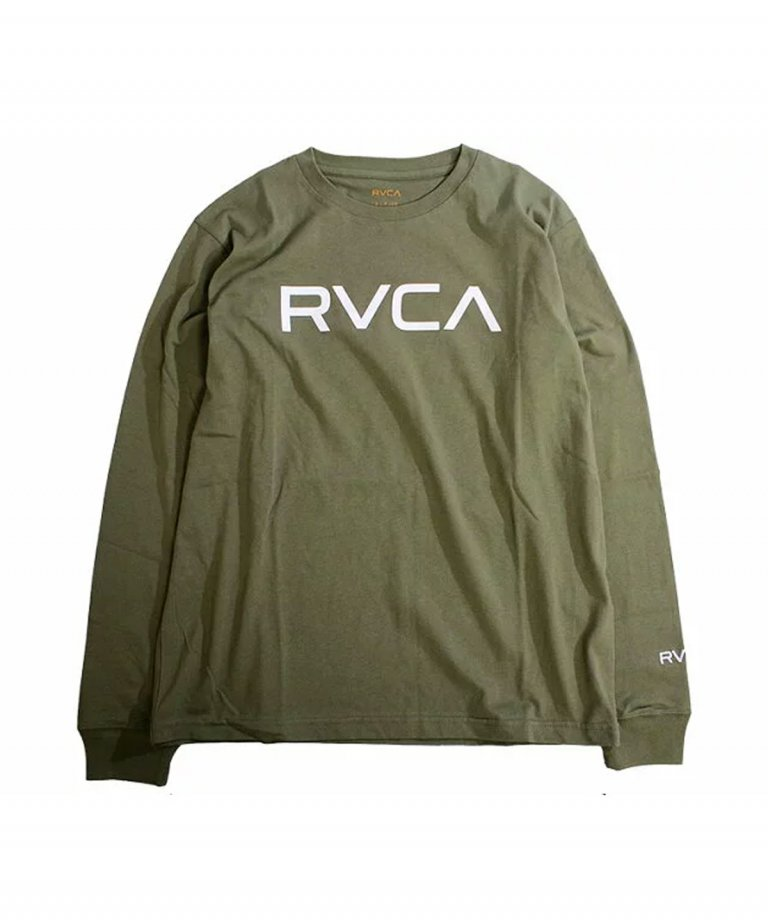 <img class='new_mark_img1' src='https://img.shop-pro.jp/img/new/icons5.gif' style='border:none;display:inline;margin:0px;padding:0px;width:auto;' />RVCA (ルーカ) RVCA BIG RVCA LS TEE MOSS